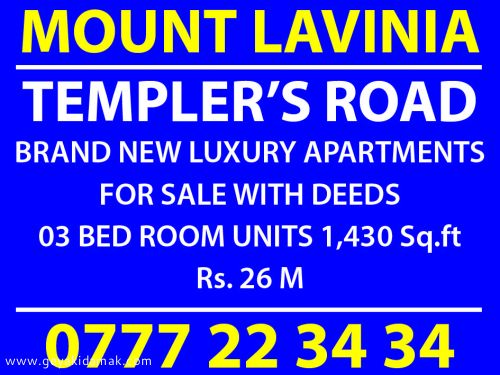 Apartment for Sale at Mount-Lavinia - Colombo